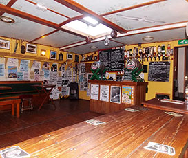 The bar area onboard albatros