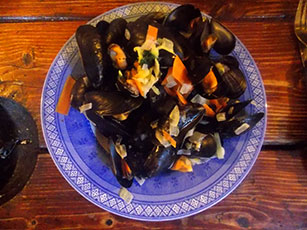 Brancaster Mussels on board Albatros
