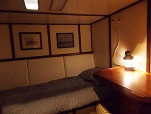 the mates cabin onboard Albatros