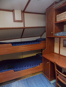 midhships cabin on Albatros in Wells next-the sea